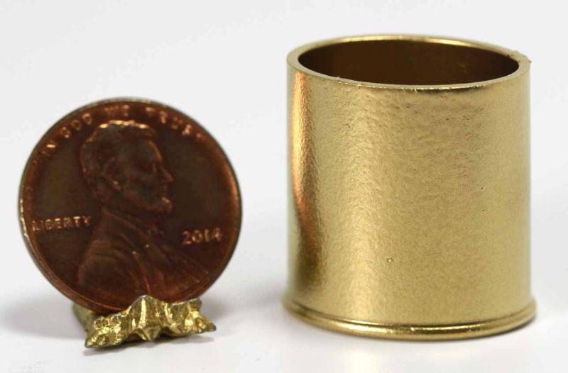 Dollhouse Miniature 1:12 Green /& Gold Waste Paper Basket